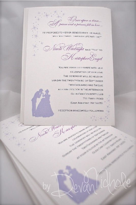 Purple Princess Invitations is nice invitation example