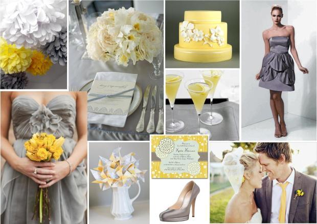 Grey + Yellow Wedding Theme