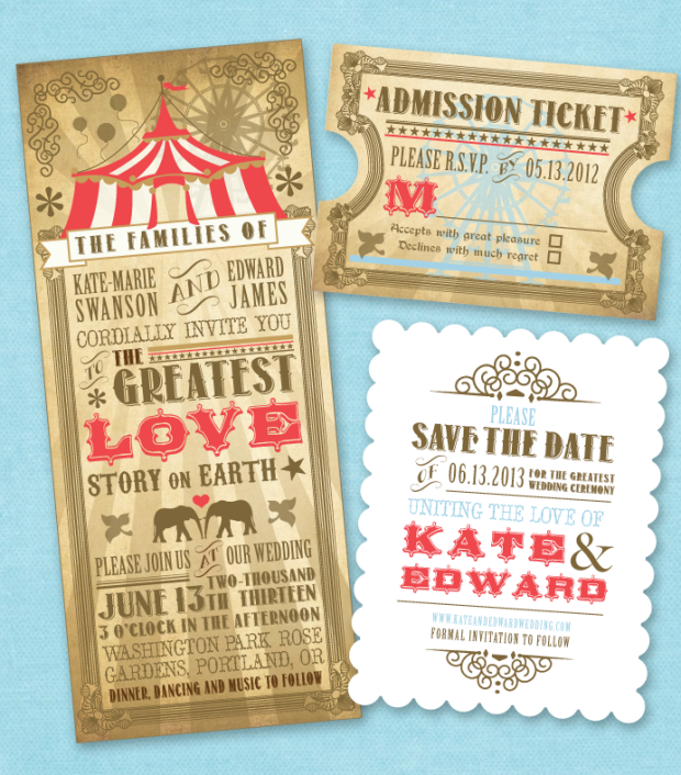 Nimbi Circus Themed Invitations