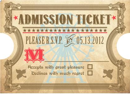 """RSVP """"Ticket"""""""